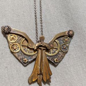 Steampunk Clockwork Angel Necklace